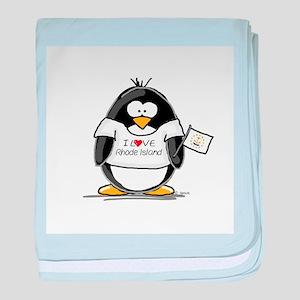 Rhode Island Penguin baby blanket