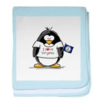 Virginia Penguin baby blanket