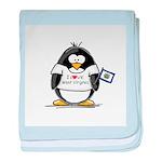 West Virginia Penguin baby blanket