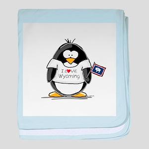Wyoming Penguin baby blanket