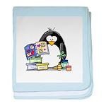 Scrapbook Penguin baby blanket