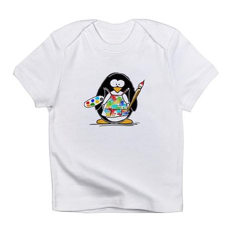 Artist penguin Infant T-Shirt