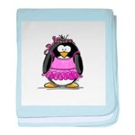 Ballet Penguin baby blanket