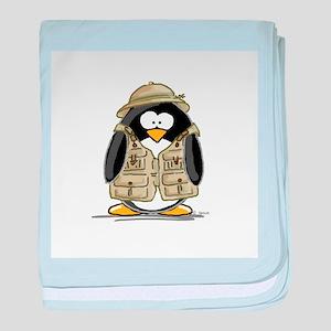 Safari Penguin baby blanket