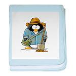 Treasure Hunter Penguin baby blanket