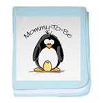 Mommy to Be Penguin baby blanket