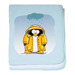 Rainy Day Penguin baby blanket