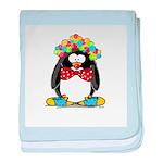 Clown penguin baby blanket