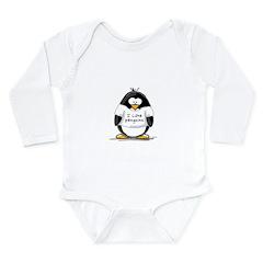I Love Penguins penguin Long Sleeve Infant Bodysui
