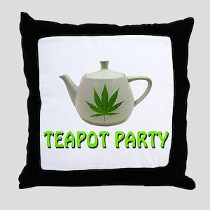 Teapot Party Throw Pillow