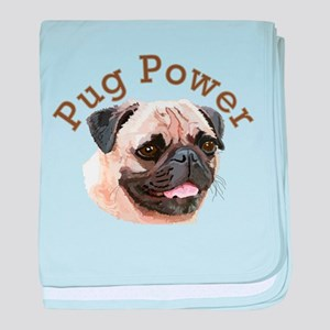 Pug Power baby blanket