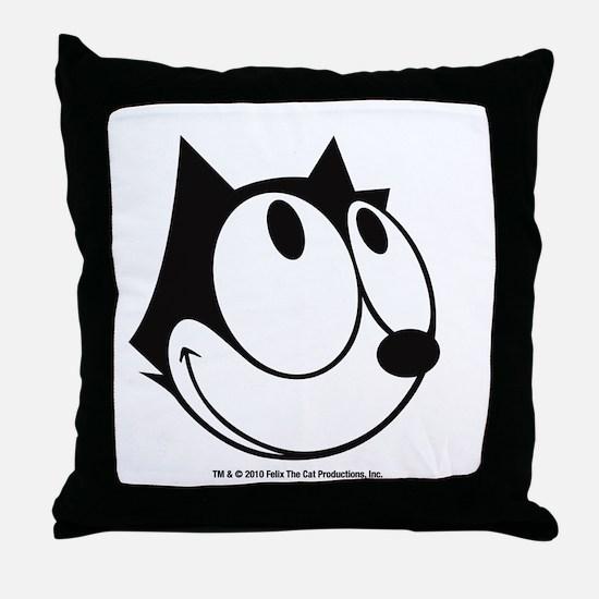 Happy Felix Throw Pillow