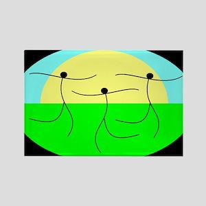 SUN DANCE Rectangle Magnet