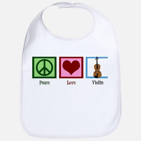 Peace Love Violin Bib
