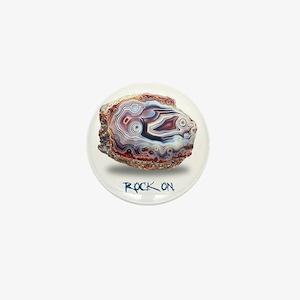 Rock On Mini Button