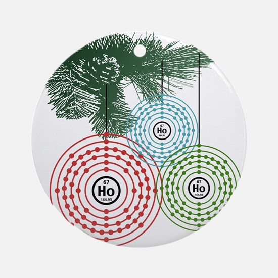 Ho Ho Holmium Ornament (Round)