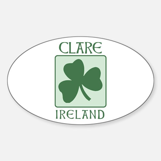 Clare, Ireland Oval Decal