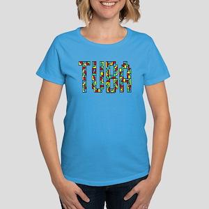 Tuba Color Blocks Women's Dark T-Shirt