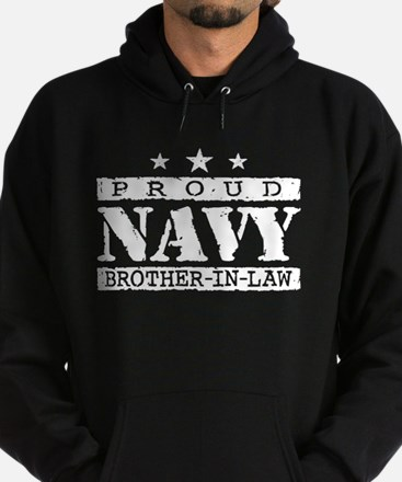 Proud Navy Brother In Law Hoodie (dark)