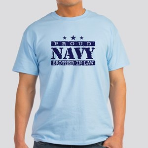 Proud Navy Brother In Law Light T-Shirt