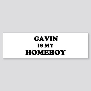 Gavin Is My Homeboy Bumper Sticker