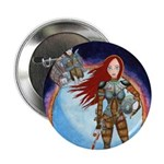"""Space Girl 2.25"""" Button (10 pack)"""