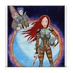 Space Girl Tile Coaster