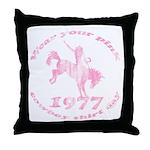 Pink Cowboy Throw Pillow