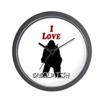 I Love Sasquatch Wall Clock