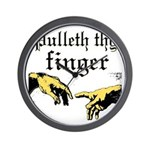 Pulleth Thy Finger Wall Clock