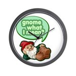 Gnome What I Mean Wall Clock