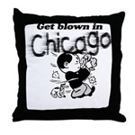 Blown in Chicago Throw Pillow