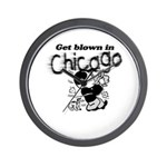Blown in Chicago Wall Clock