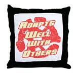 Adapts Well Throw Pillow