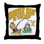 Master Bait Tackle Throw Pillow
