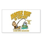 Master Bait Tackle Sticker (Rectangle)
