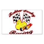 Rubber Ducky Racing Sticker (Rectangle)