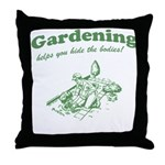 Gardening Helps Throw Pillow