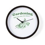 Gardening Helps Wall Clock