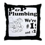 P P Plumbing Throw Pillow