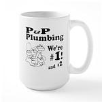 P P Plumbing Large Mug