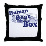 Human Beat Box Throw Pillow