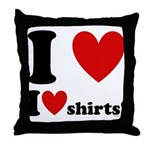 I Love I Heart Shirts Throw Pillow