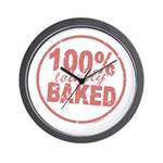 Totally Baked Wall Clock