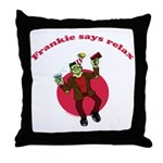 Frankie Relaxes Throw Pillow