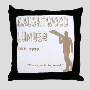 Gaughtwood Lumber Throw Pillow