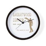 Gaughtwood Lumber Wall Clock