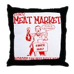 Dicks Meat Market Throw Pillow