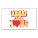 Haight Love Sticker (Rectangle)