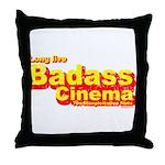 Badass Cinema Throw Pillow
